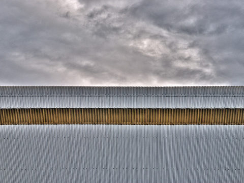 Corrugated iron rooftop