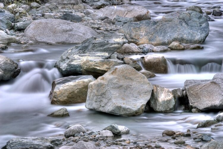Small waterfalls and stone