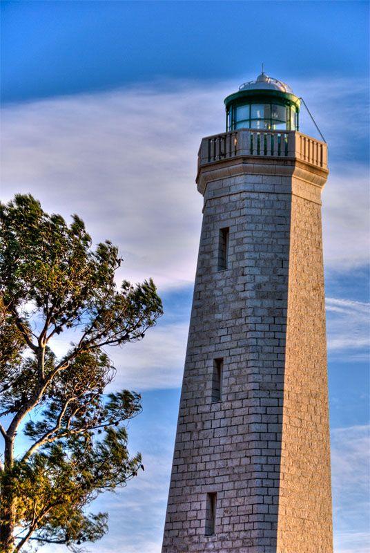 Lighthouse windy sunset
